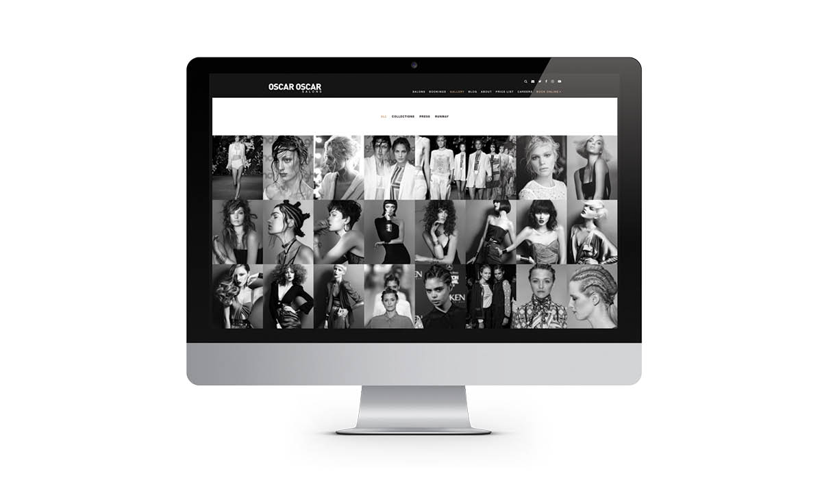 Oscar Oscar Salons Graphic Design - Website Design Gallery