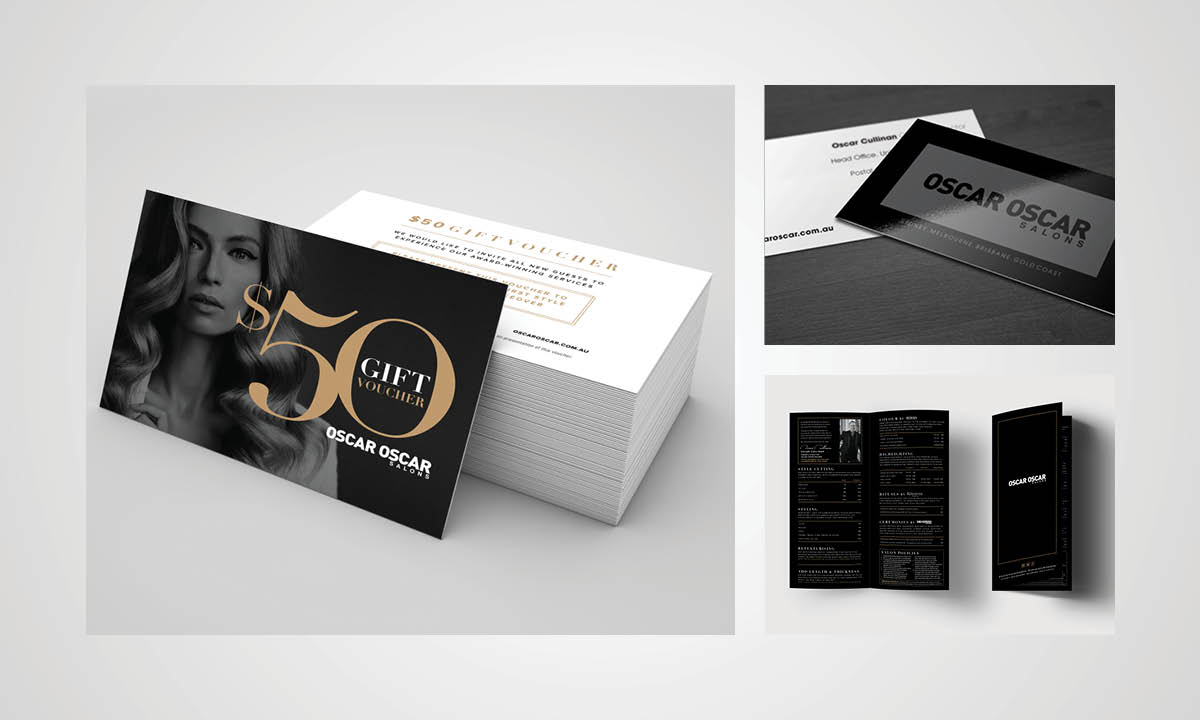 Oscar Oscar Salons Graphic Design - Loyalty cards by Copirite