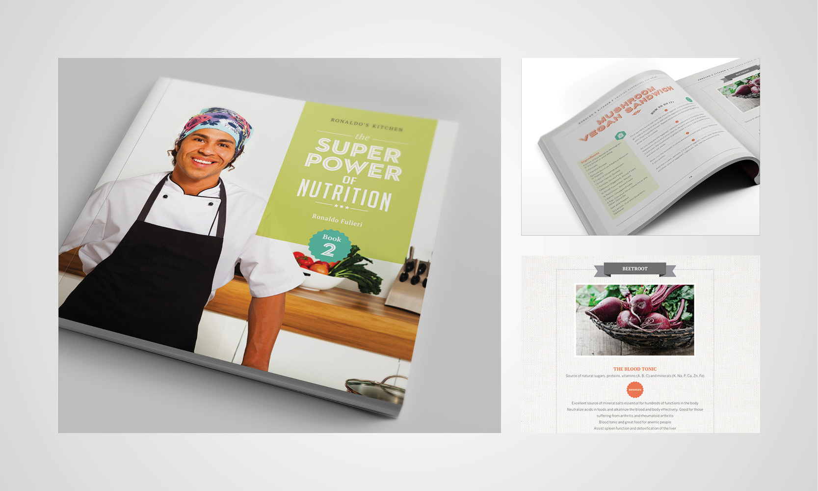 Design and printing of cookbook for Ronaldo Fulieri by Gold Coast graphic design team Copirite